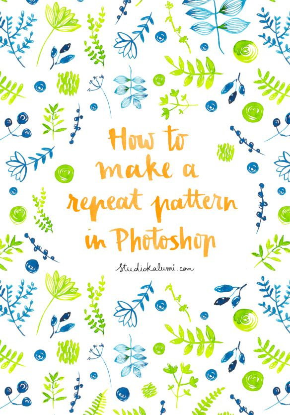 Tutorial 60 How To Make A Repeat Pattern In Photoshop Print Inspiration How To Make A Seamless Pattern In Photoshop
