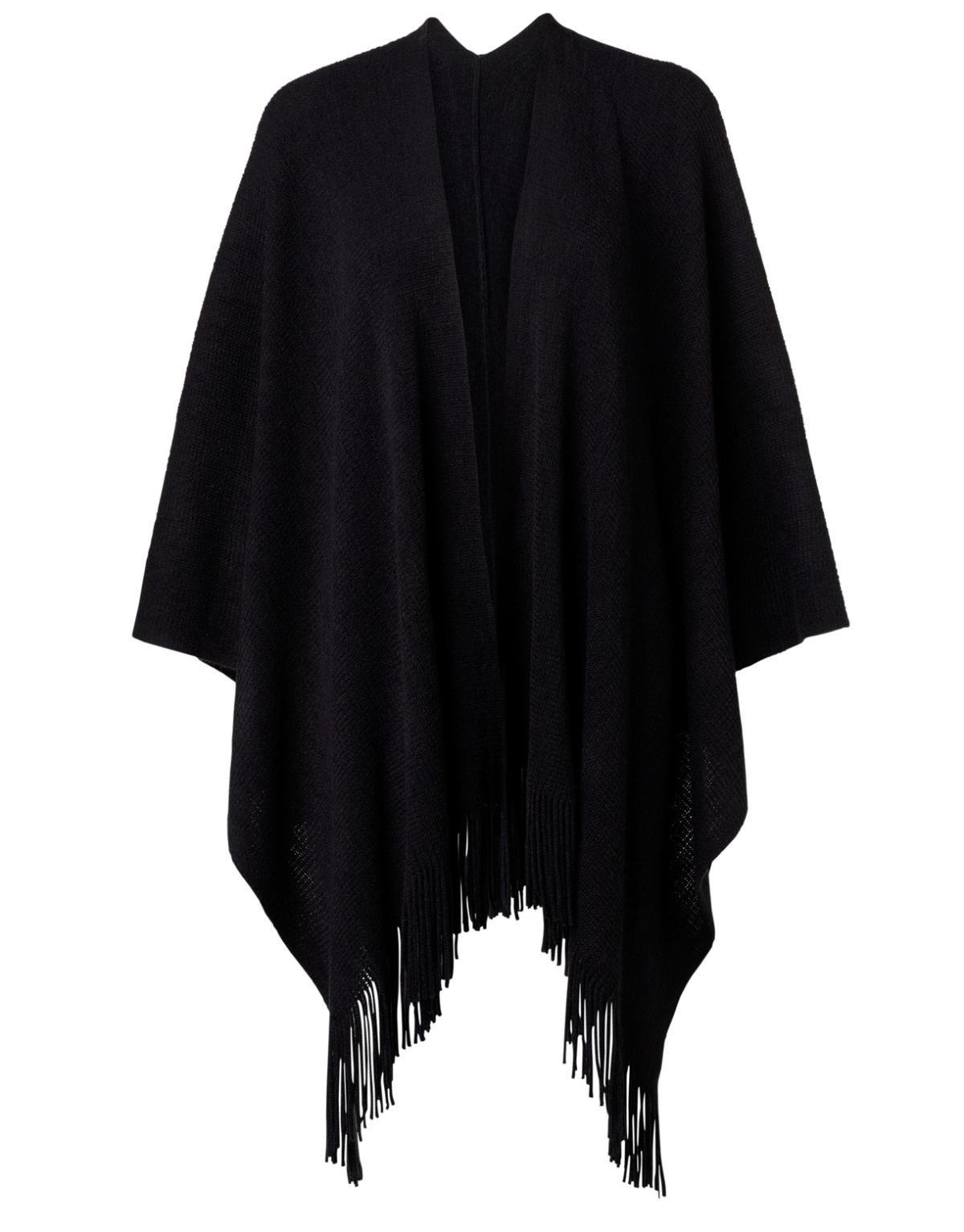 PLAIN poncho svart | Scarves | Sjalar & halsdukar | Accessoarer | INDISKA Shop Online