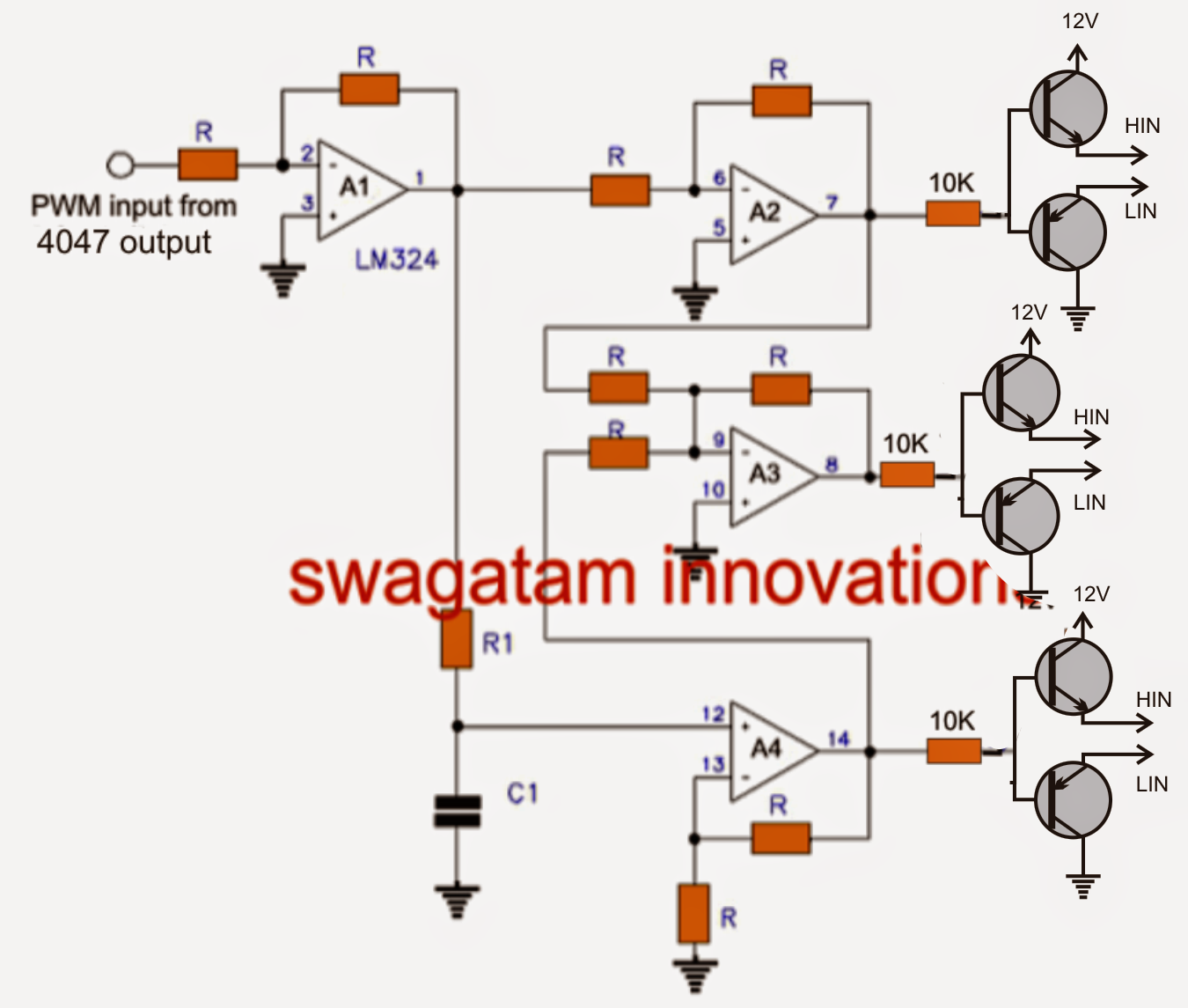 medium resolution of three phase inverter circuit circuit diagram centre