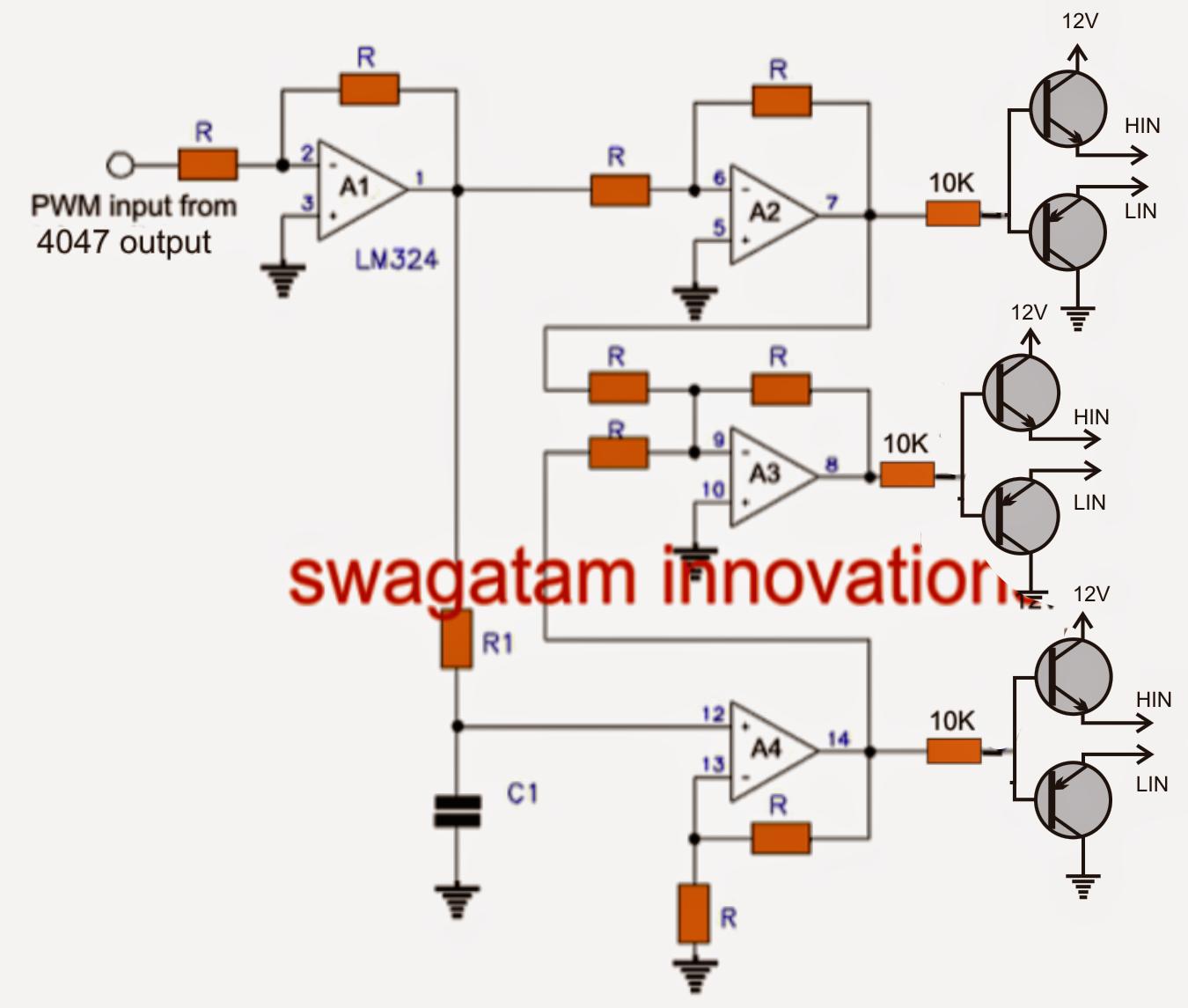 three phase inverter circuit circuit diagram centre [ 1350 x 1145 Pixel ]