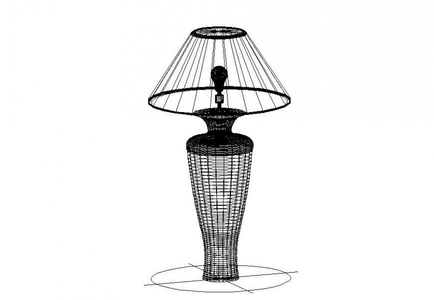 3d Block Of A Table Lamp Cadbull In 2020 Lamp Table Lamp 3d Drawings