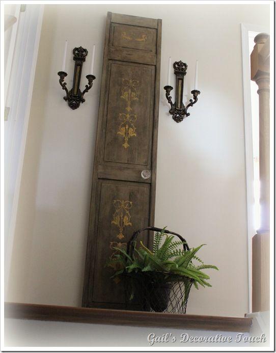 Gail S Decorative Touch A Stenciled Closet Door As Wall Art Doors Painted Redo