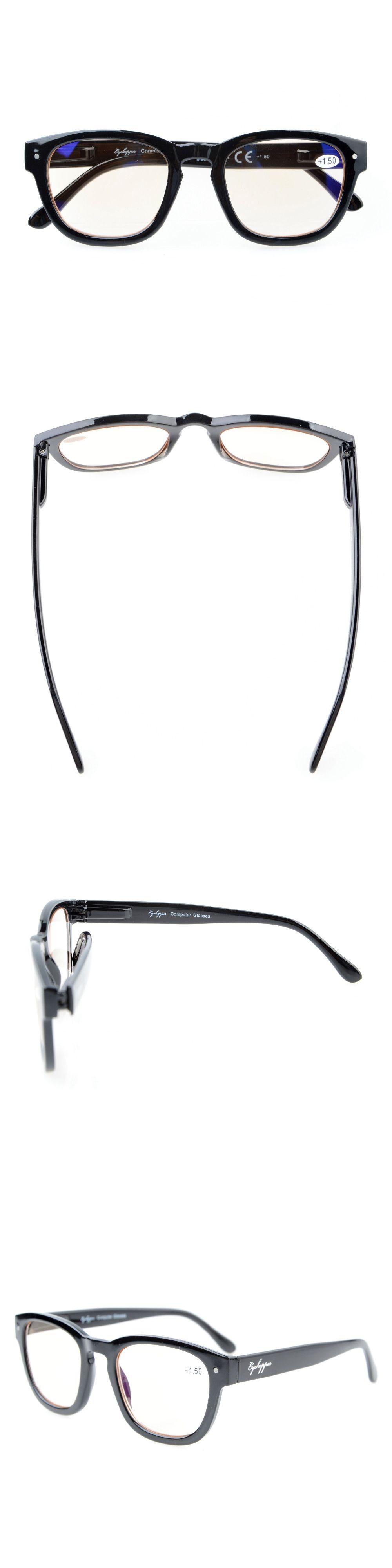 9c7070b88c CG089 Eyekepper Amber Tinted Lenses Computer Readers Professor Vintage  Style Spring Hinges Arms Computer Reading Glasses
