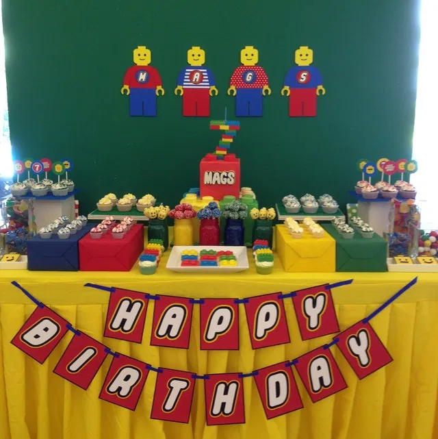 Bright and Colorful Lego Birthday Party - One Charming Day