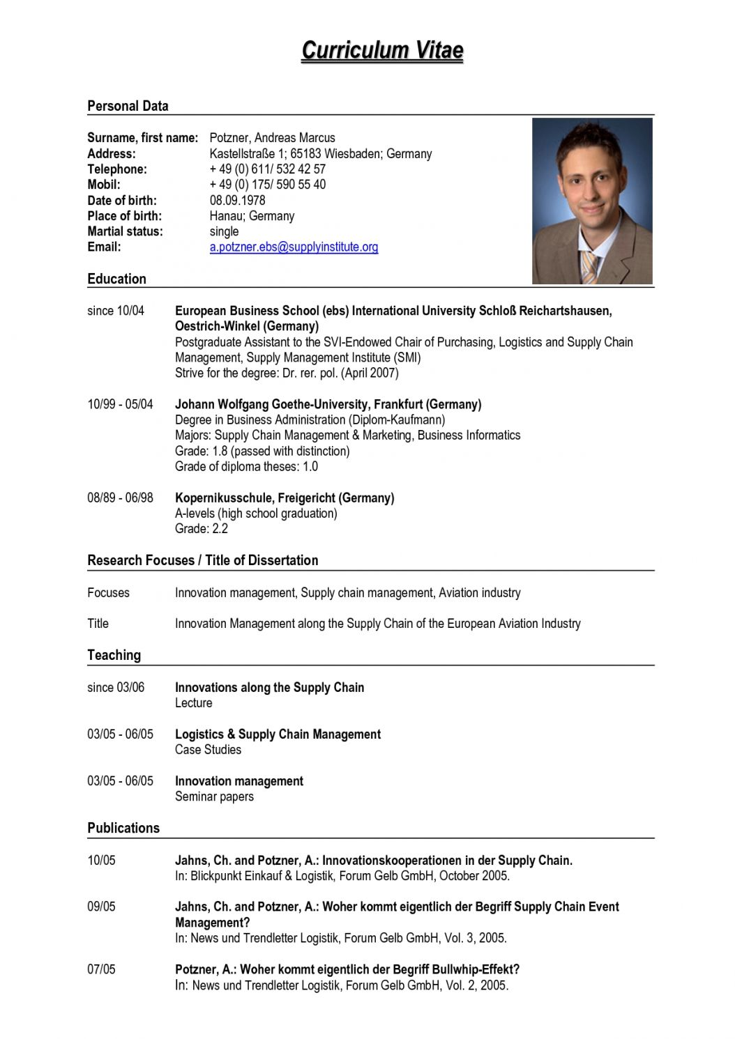 Resume Format Germany - Resume Format  Job resume format