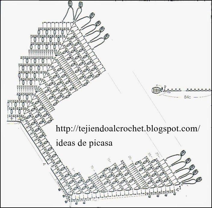 POCHO TEJIDO A GANCHILLO | Patrones poncho, Ganchillo patrones y ...