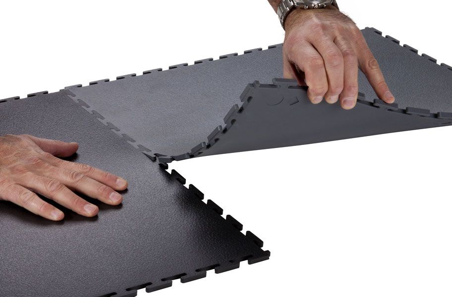 7mm Textured Flex Tiles Garage Floor Garage Floor Tiles Floor