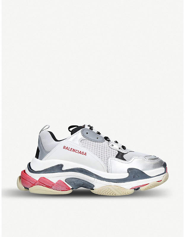 best service official new cheap BALENCIAGA Triple S leather and mesh trainers | shoes en ...