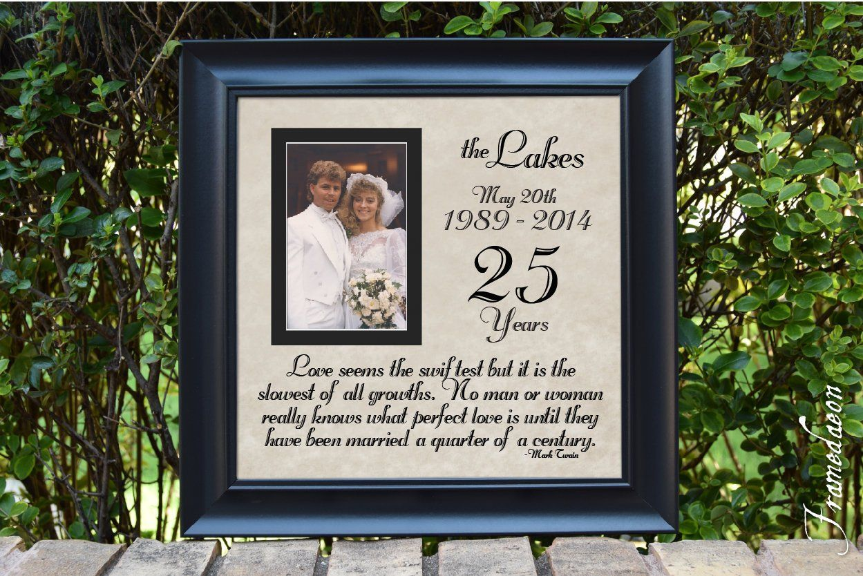25th anniversary frame silver anniversary anniversary