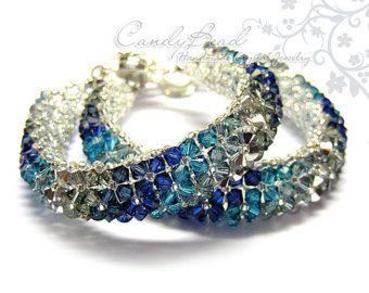 Swarovski Crystal Bracelet Purple and Lavender Opal by candybead