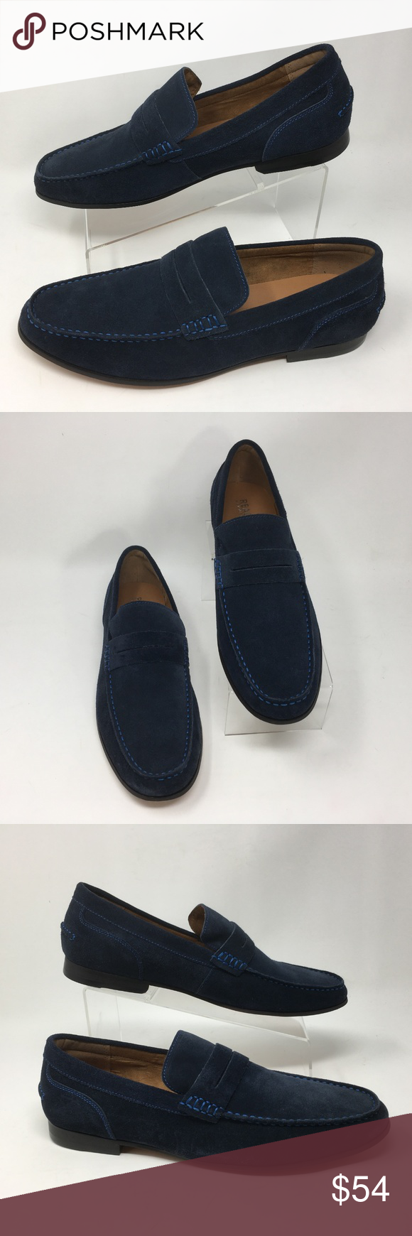 e5e87b302b8 Kenneth Cole Reaction Men s Crespo Suede Navy New with box Casual suede  leather loafer Framed in