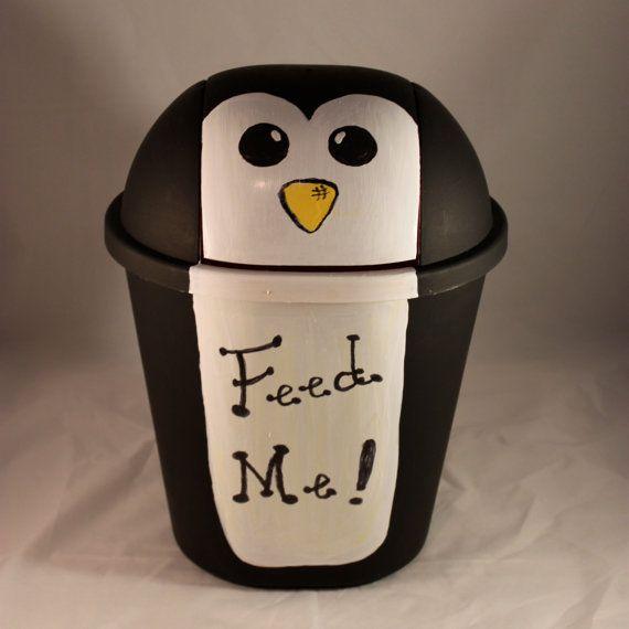 Cute Penguin Trashcan @Leslie Lippi Lippi Lippi Riemen Welker
