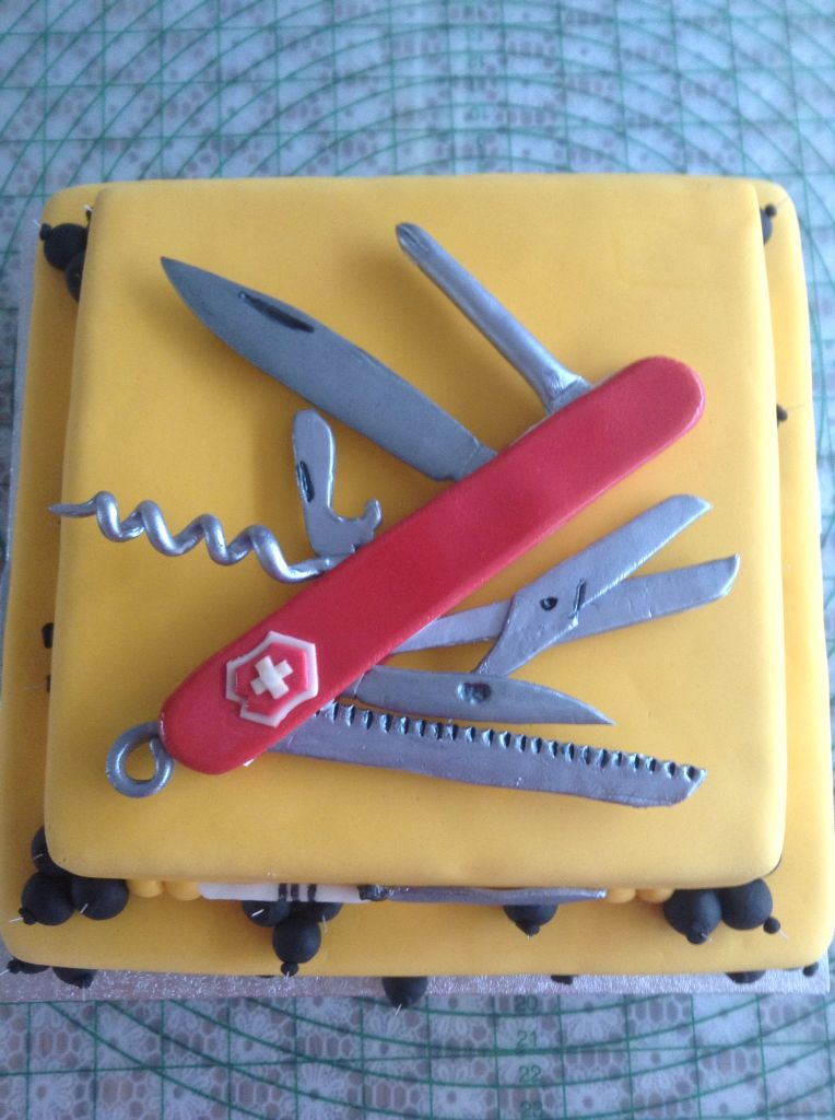 Swiss Knife Birthday Cakes Pinterest Cake And Birthday Cakes