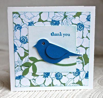 Three minute 2 step bird card