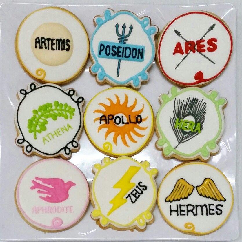Greek mythology themed cookies. | Greek birthday