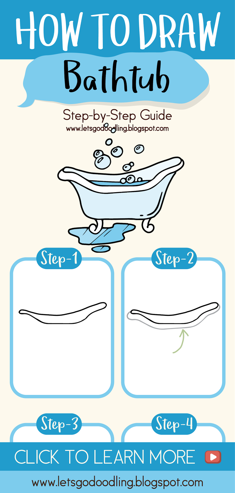 Learn How To Draw A Bathtub With These Super Easy Steps Great For