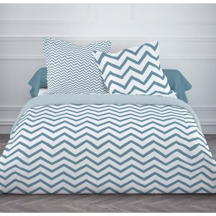 Collection scandinave design de cdiscount today for Housse de couette taupe et turquoise
