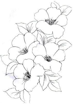 Riscos Para Pintura Em Tecido Flores Bordadinhos Pinterest