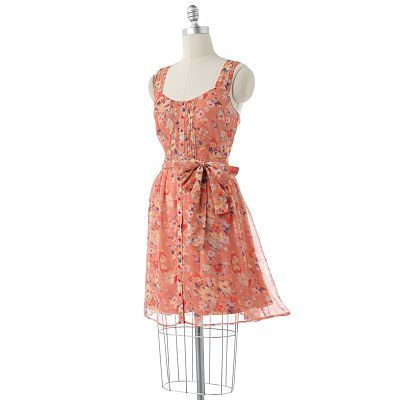 Just bought this dress from Kohl's! It's super cute, flattering, and versatile! Can we worn with heels, sandals, or cowboy boots!