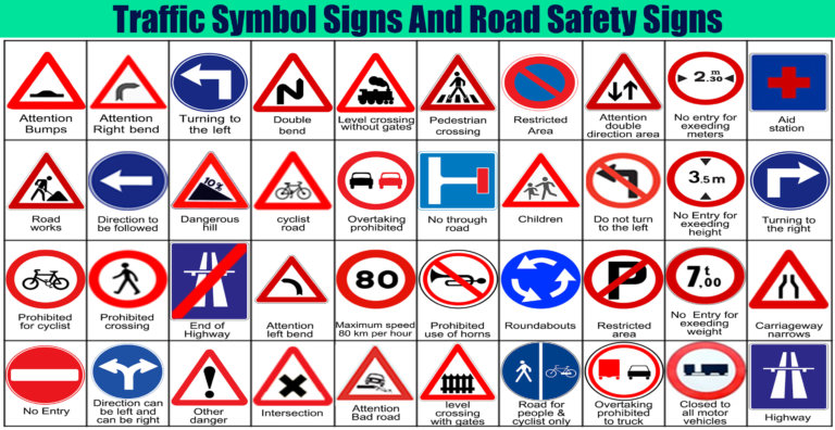 Traffic Symbol Signs And Road Safety Signs Engineering Discoveries Traffic Symbols Road Safety Signs Road Signs
