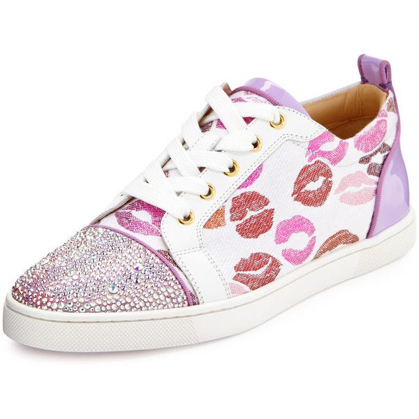 Low Top Print Sneakers In Pink