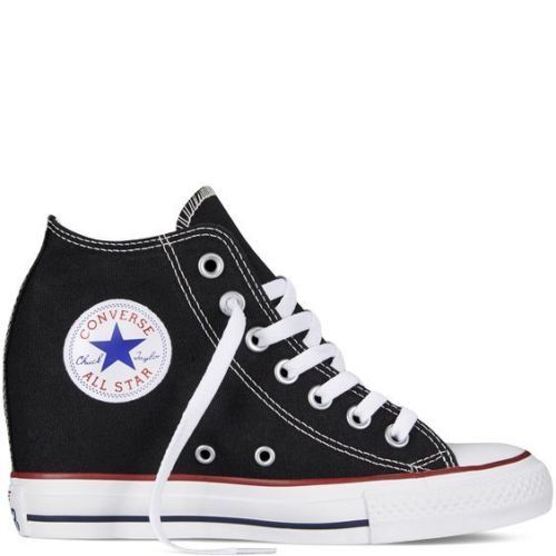 b124742be0fe Converse All Star Women s Wedge Chuck Taylor Lux Mid Black White ...