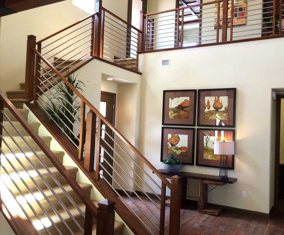Charmant Stair Railing Remodels, Custom Woodworking, Fireplace Mantels .