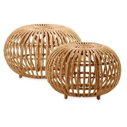 Classic Rattan Ottoman Collection