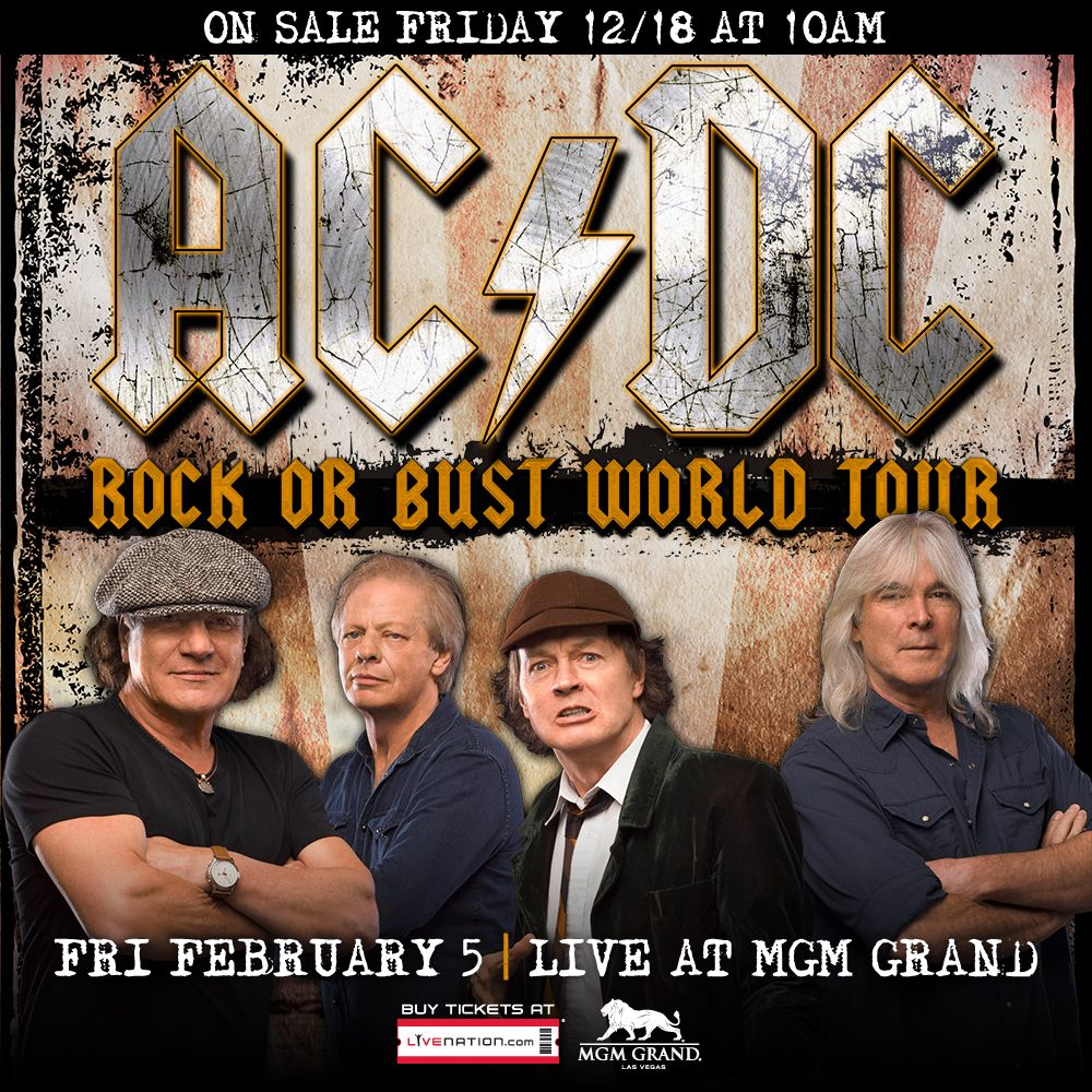 AC/DC Coming to MGM Grand Garden Arena Friday, Feb. 5, 2016 | Mgm ...