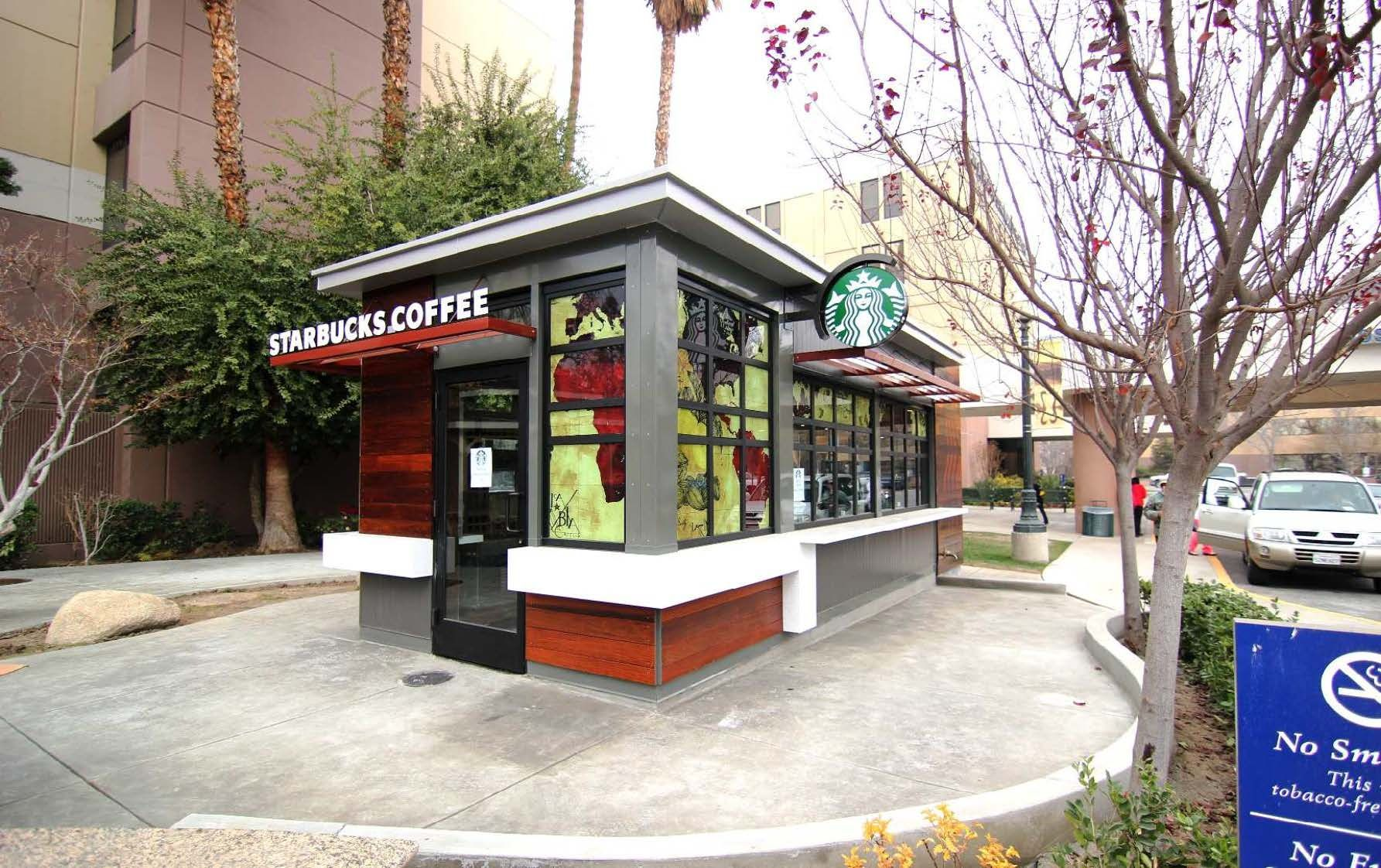 Alternative footprint created by the starbucks southern for Exterior kiosk design