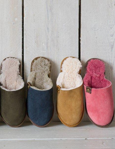 Slippers, Sheepskin slippers, Mules