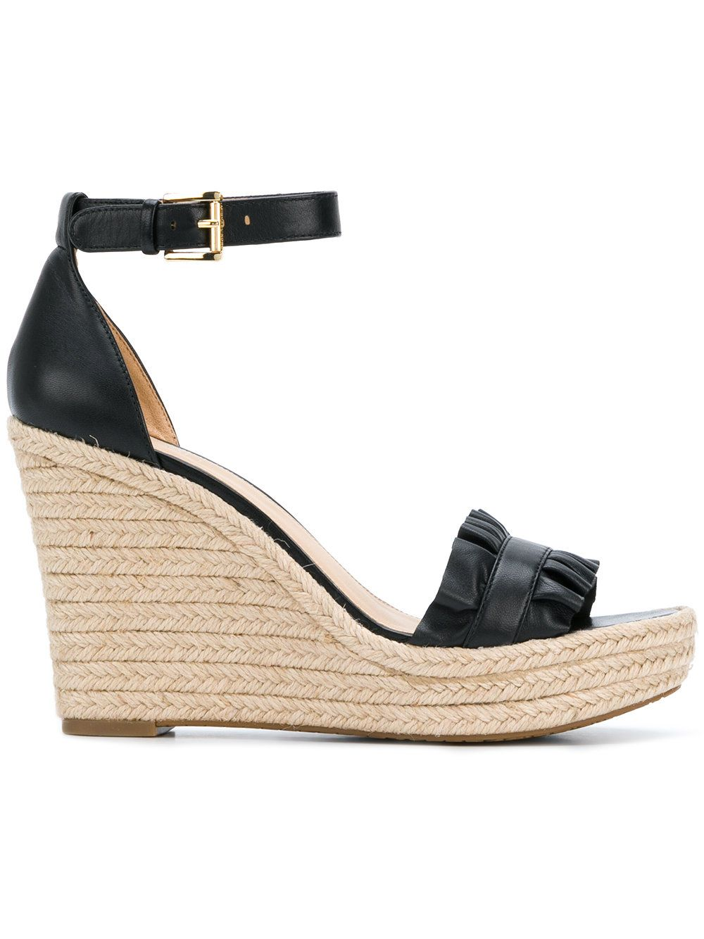 7ab94190b86 Michael Michael Kors Bella ruffled wedge sandals