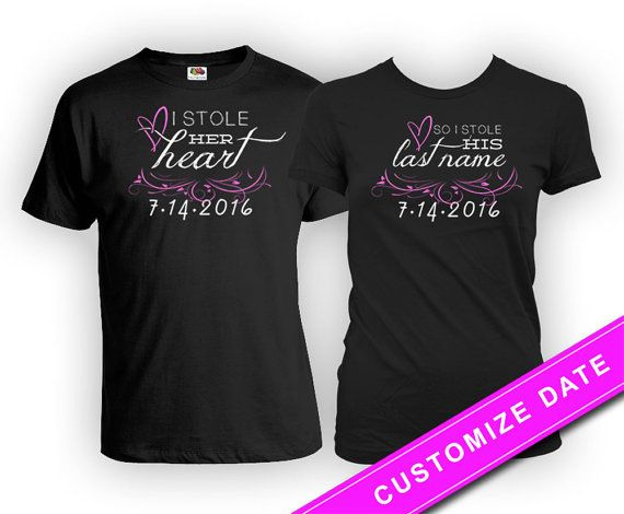 e1c43899 Funny Couple Shirts Wedding T Shirt His And Her Shirts Husband And Wife  Gifts Matching Shirts Just M