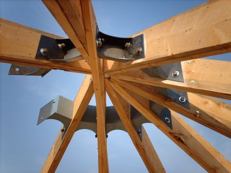 Rafter Brackets Maybe We Could Use These To Build The Hexagon Pergola Arbor Round House Pergola Timber Framing