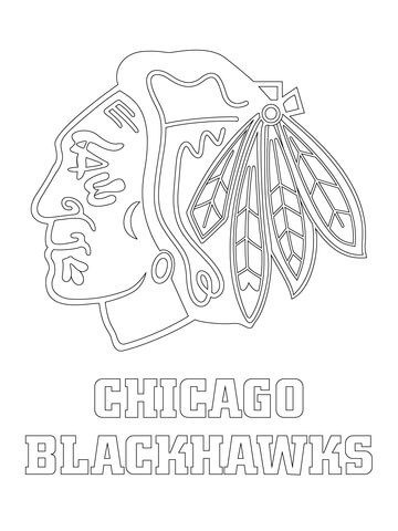 Chicago Blackhawks Logo Coloring Page Illinois Chicago