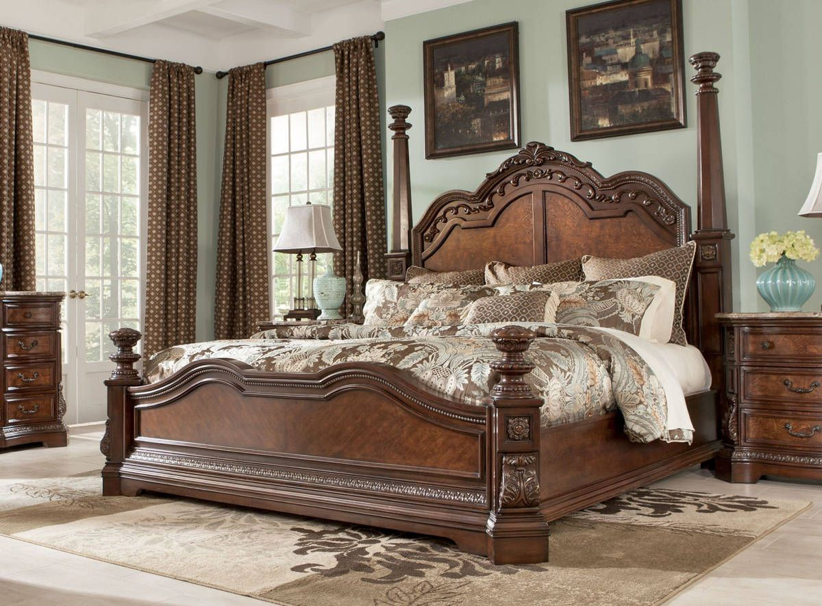 Ashley Furniture Ledelle Queen Poster Bed Bedroom