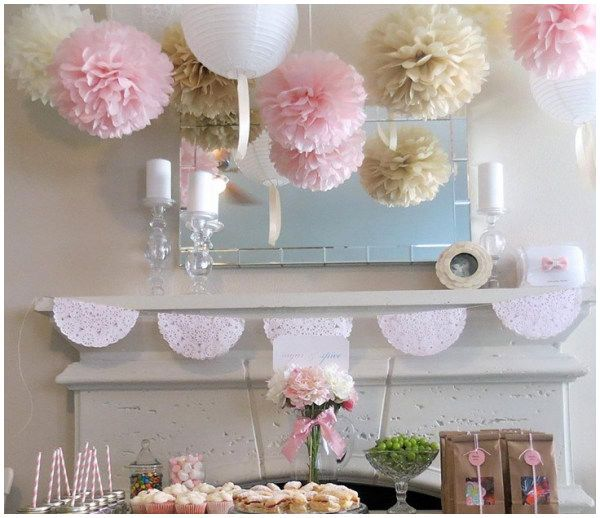 12 Inch 30CM Tissue Paper Pom Poms Flower Ball Wedding Birthday Party Decoration