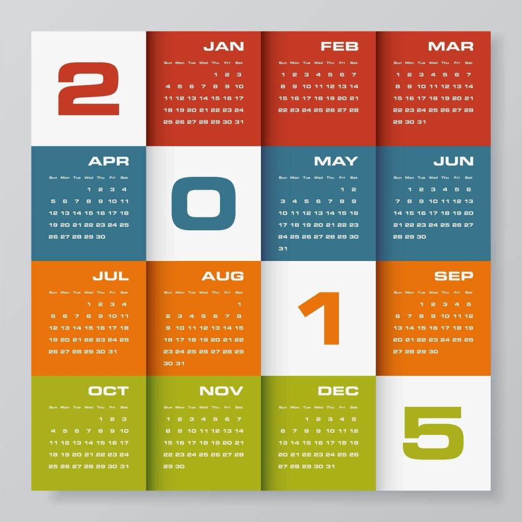 New Year Creative D Calendars  Colorful New Year  Calendar