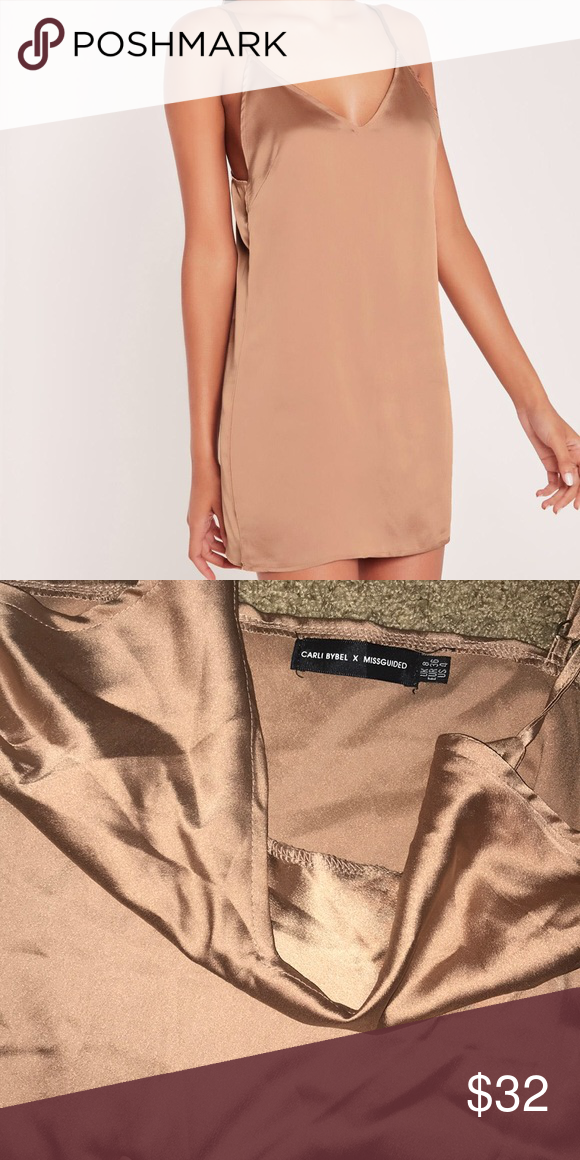 63c541722a64 Missguided silky rose gold slip dress Brand new without tags, has been  sitting in my