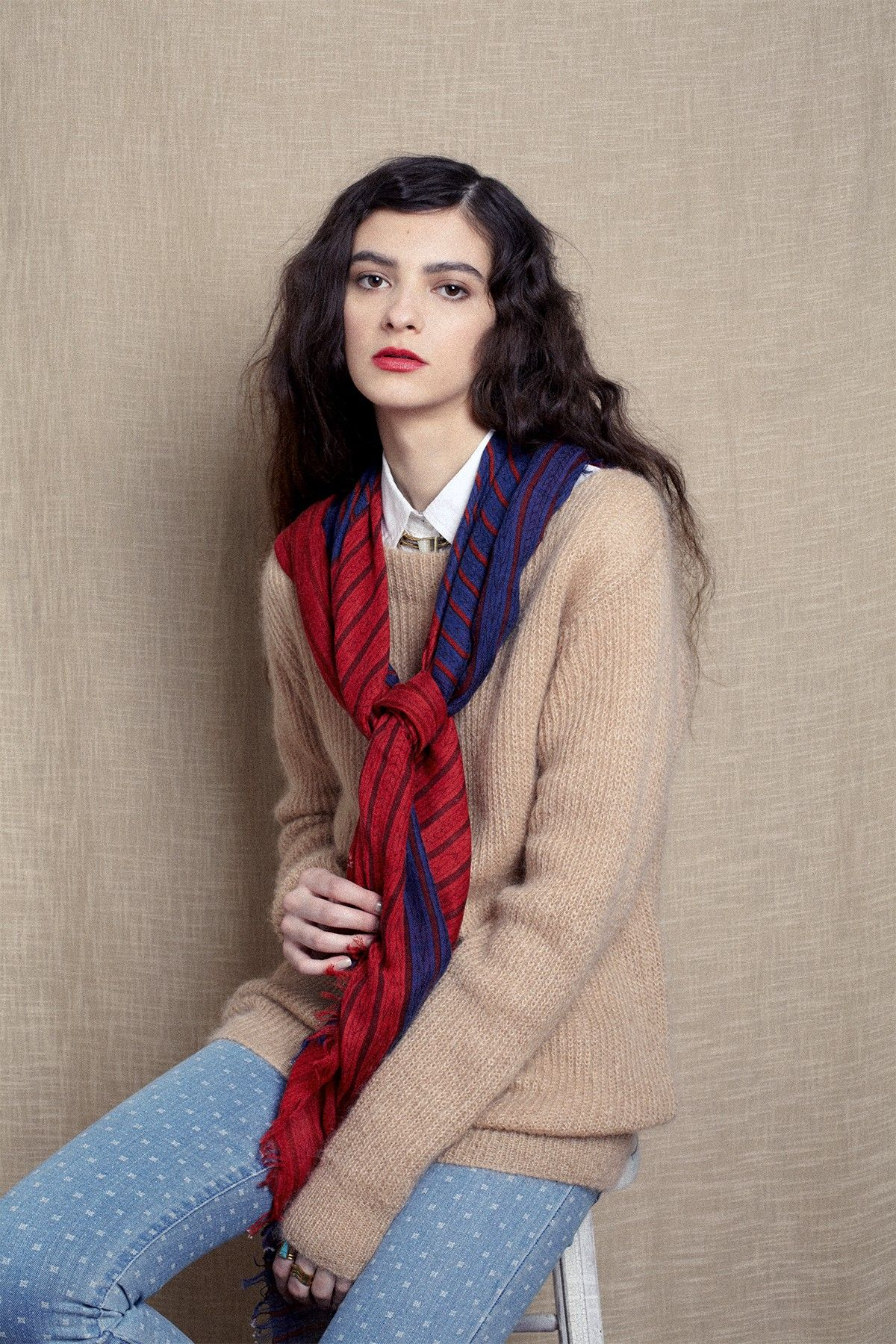 A Peace Treaty Chal Red Cashmere Blend Scarf by A Peace Treaty on @HauteLook
