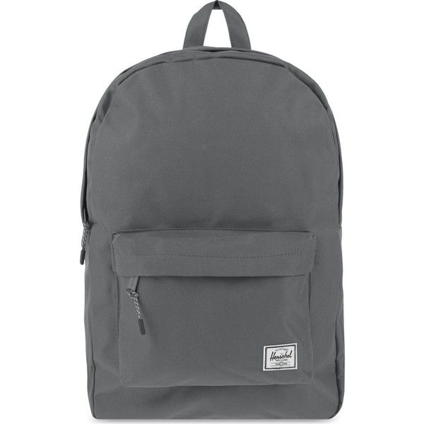 HERSCHEL SUPPLY CO Classic backpack ($52) ❤ liked on Polyvore featuring bags, backpacks, backpack, grey, knapsack bag, day pack backpack, grey backpack, backpack bags and canvas rucksack
