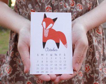 2015 Calendar: Little Fox Calendar with Display Easel