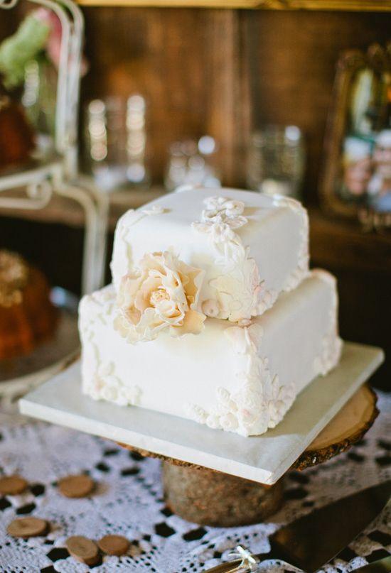 Simple Rustic Style Two Tier Simple Wedding Cakes Addicfashion