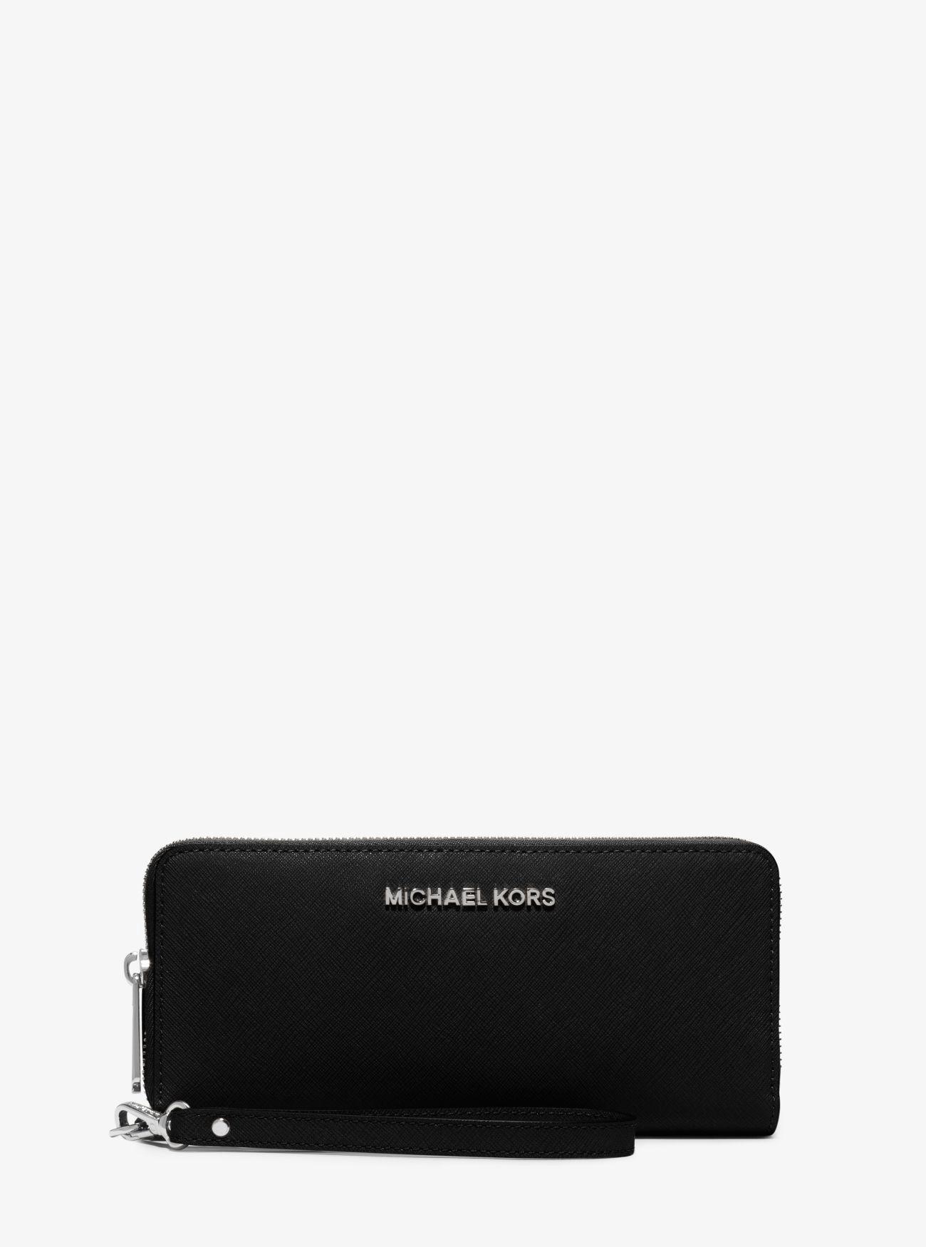 0edd00bd61c6 MICHAEL KORS Jet Set Travel Saffiano Leather Continental Wallet.   michaelkors  all