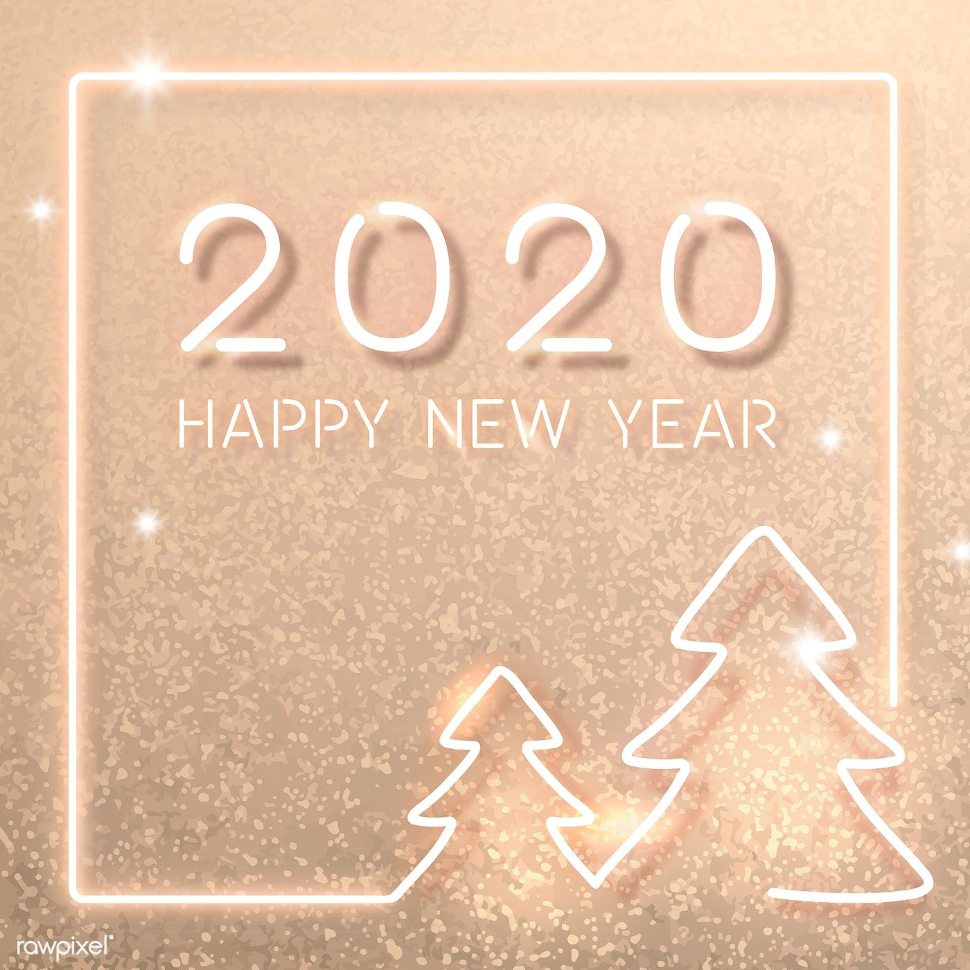 Download Premium Vector Of Gold Neon New Year Social Template Vector New Year Card Design Social Templates Happy New Year Images