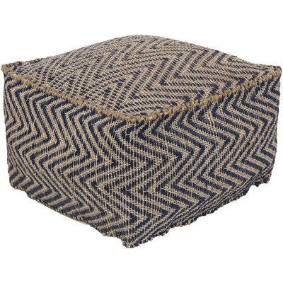 Laurel Foundry Modern Farmhouse Moorcroft Pouf Ottoman Upholstery: