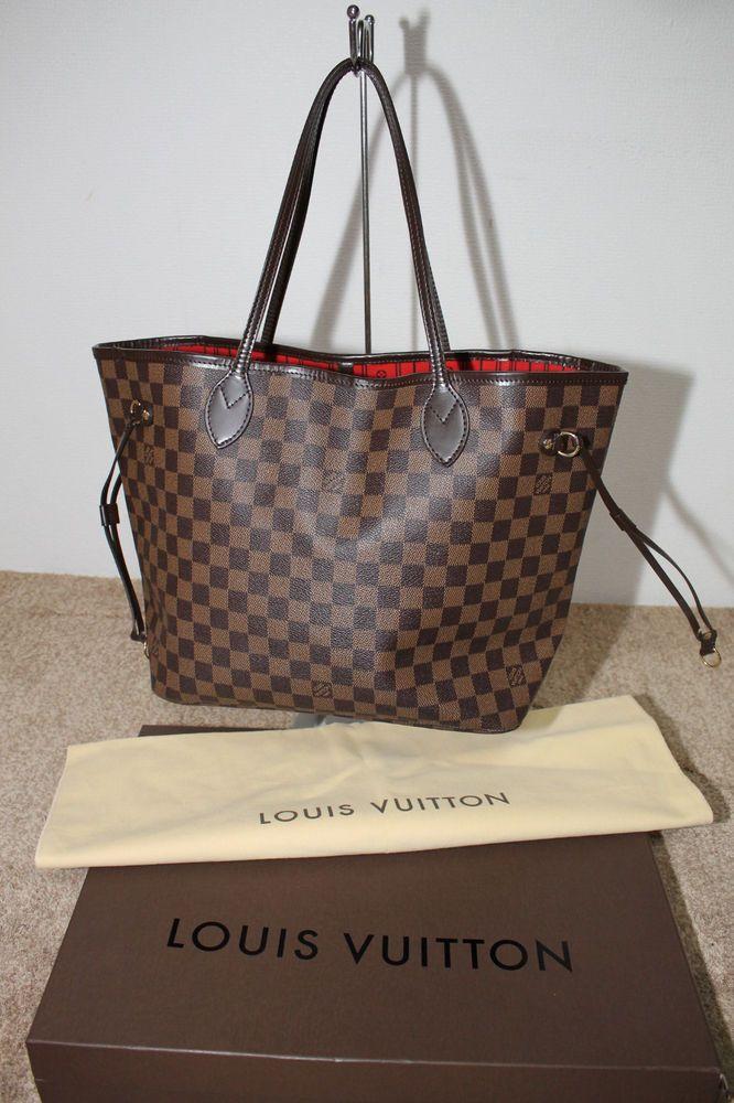 58c2c6cf7870 Authentic LOUIS VUITTON Damier Neverfull MM Tote Handbag  LouisVuitton   TotesShoppers