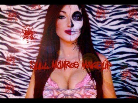 Jemma Pixie Hixon - Skeleton Skull / Marilyn Monroe Illustration Inspired Halloween Makeup Tutorial - YouTube