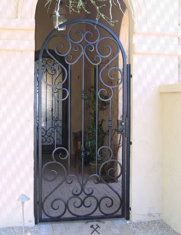 Wrought Iron Entry Gate Custom Fabricated By Fireplace Door Guy In