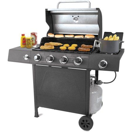 Backyard Grill 4 Burner Gas Grill With Side Burner Backyard Grilling Grilling Gas Grill
